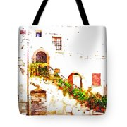 Flowery Staircase Tote Bag