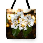 Flowery Sunset Tote Bag
