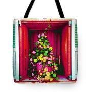 Flowery Window Tote Bag
