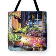 Flowery Window Of France Tote Bag