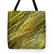 Flowing Green Grass  Abstract Tote Bag