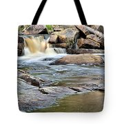 Flowing Over The Rocks Tote Bag
