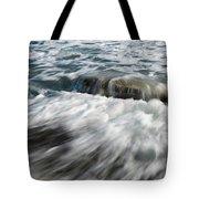 Flowing Sea Waves Tote Bag