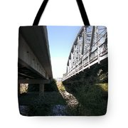 Flowing Under The Bridges Tote Bag