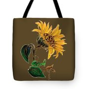 Flower Power T-shirt Tote Bag