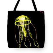 Flows Of Yellow Marine Life Tote Bag