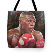 Floyd Mayweather Jr Tote Bag by Ylli Haruni