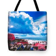 Fluffy Clouds Over Clearwater Beach Tote Bag