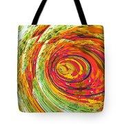 Fluorescent Wormhole Tote Bag