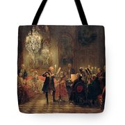 Flute Concert With Frederick The Great In Sanssouci Tote Bag