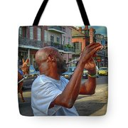Flute Musician In New Orleans Tote Bag