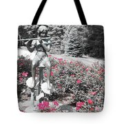 Flute Player - Two Toned Tote Bag