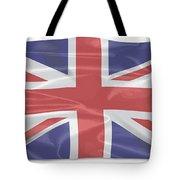 Fluttering Silk Union Jack Tote Bag