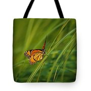 Fluttering Through The Summer Grass Tote Bag