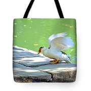 Fly Away Duck Tote Bag