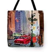 Fly Bcpa To America Vintage Poster Restored Tote Bag