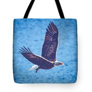 Fly By Eagle. 2 Of 3 Tote Bag