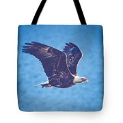 Fly By Eagle. 3 Of 3 Tote Bag