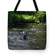Fly Fishing In New York Tote Bag