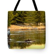 Fly Fishing On The Madison Tote Bag