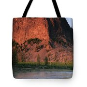 Fly Fishing On The Madison River Tote Bag