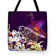 Fly Housefly Insect Close Macro  Tote Bag