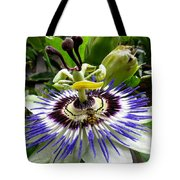 Fly On A Passion Flower Tote Bag