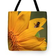 Fly On Sunflower Tote Bag