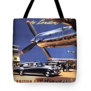 Fly The Rolls Royce Way To London Tote Bag