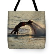 Flyboarder Diving In Up To His Arms Tote Bag