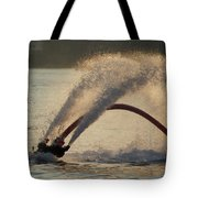 Flyboarder Only Showing Feet After Semi-circular Dive Tote Bag