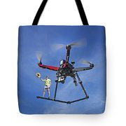 Flying A Drone Tote Bag