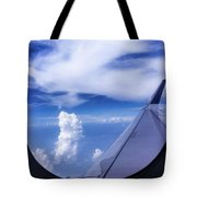 Flying Above The Clouds Tote Bag