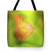 Flying Butterfly On Decorative Background, Graphic Design. Tote Bag