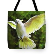Flying Cockatoo  Tote Bag