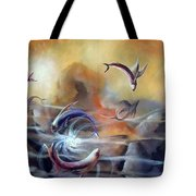 Flying Fishes Tote Bag