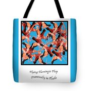 Flying Flamingos Tote Bag