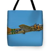 Flying Fortress Climbing Tote Bag