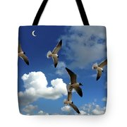 Flying High In The Clouds Tote Bag