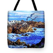 Flying High Over California Tote Bag