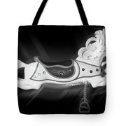 Flying Horse Black And White Tote Bag