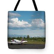 Flying In Alaska Tote Bag