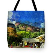 Flying Into Paradise Tote Bag