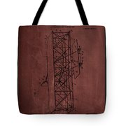 Flying Machine Patent Drawing  Tote Bag
