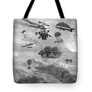 Flying Machines, 1864 Tote Bag