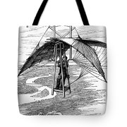 Flying Mans Parachute Tote Bag