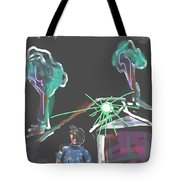 Flying Men Tote Bag