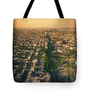 Flying Over Jersey City Tote Bag