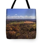 Flying Over New Milford Tote Bag