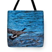 Flying Over Rough Waters Tote Bag